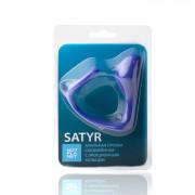 Эрекционное кольцо c анальным стимулятором Hot Planet Satyr, синий