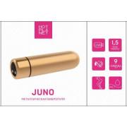 Металлическая вибропуля Hot Planet Juno, золотистая